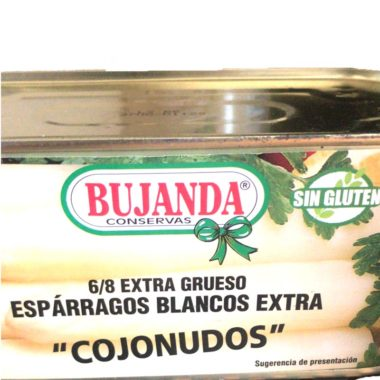 "Espárragos blancos extra Bujanda ""cojonudos"" 6/8 frutos extra grueso 660g"