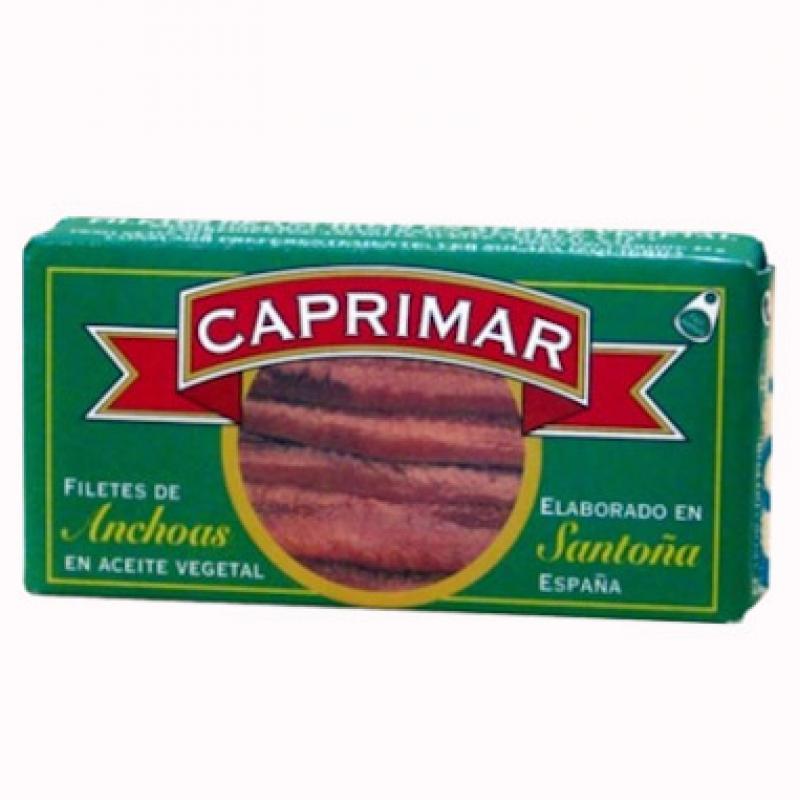 Filetes de anchoas en aceite de girasol Caprimar 125gr