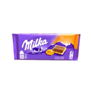 tableta de chocolate milka caramelo