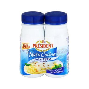 pack de nata president para cocinar